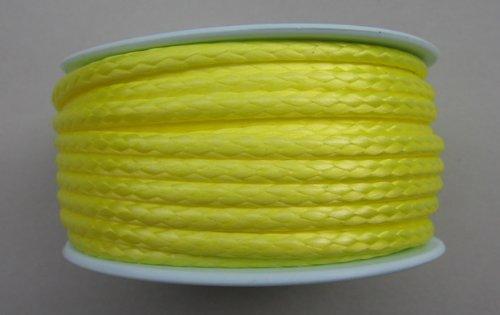 Gepotex Dyneema Flechtschnur Seil Dyneemaseil Flechtleine aus Dyneema - Durchmesser 3mm - 15 Meter Fb. gelb