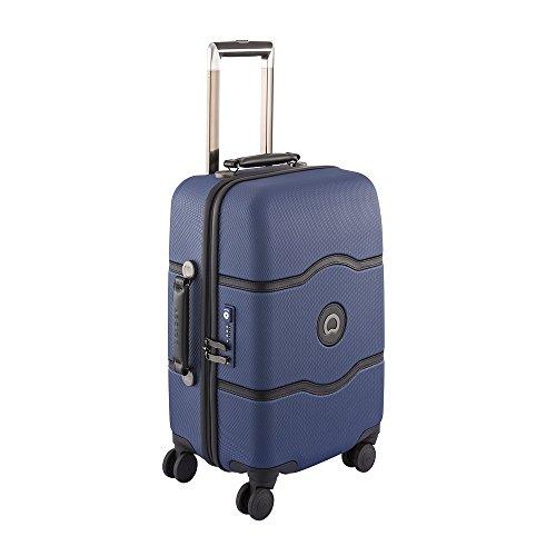 DELSEY PARIS - CHATELET HARD PLUS - Valise trolley 4 doubles roues, 68 cm, 72 L, Bleu