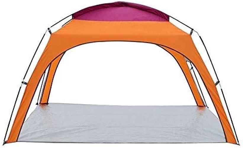 2-4 personnes construisant rapidement des tentes de plage ultra-légères tentes extérieures de plage de prougeection solaire de parasol de prougeection solaire 2 couleurs facultatives ( Couleur   Orange )