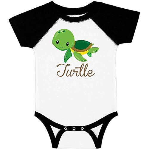 inktastic Little Turtle Infant Creeper 6 Months White & Black