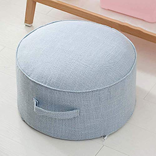 WEIZI Round Thickened Floor Cushion Japanese Linen Seat Cushion Breathable Portable Futon Footstool Cushion Yoga Meditation Cushion Washable - Diameter: 40 cm (16 inches)