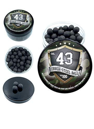 SSR 100 x Rubber Balls 43 .Cal Bolas de Paintball Pintura Pelotas de Goma Acero la Pistola Revolver T4E RAM Rubber Balls Paintballs M2 TMP1