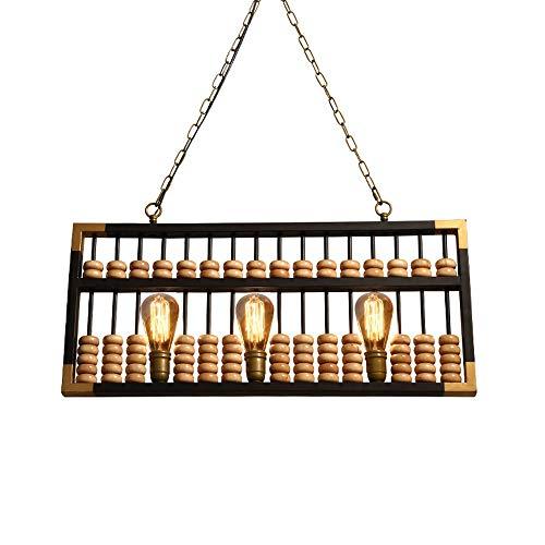 Hdmy Amerikanischen Vintage Industrie LOFT Bar Kronleuchter Kreative Front Dekorative Kasse Zähler Restaurant Abacus Holz Deckenpendelleuchte Leuchte Hängelampe