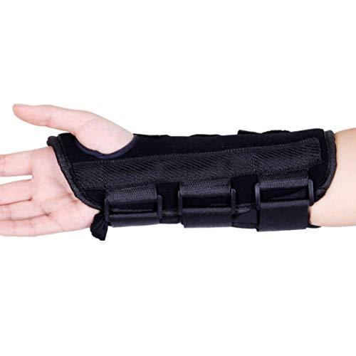 YSHTAN Polssteun Overige Sportuitrusting Polssteun Carpaal Polssteun Brace Pad Sprain Onderarm Splint Band Band Veilige Beschermer - Zwart S Links