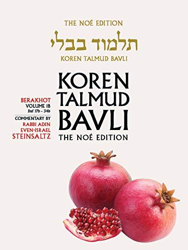 Koren Talmud Bavli, Berkahot Volume 1b, Daf 17b-34b, Noe Color Pb, H/E