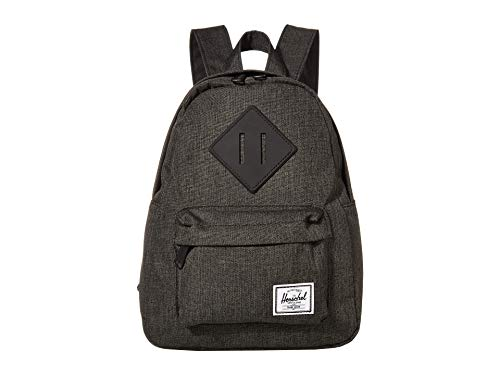 Herschel Heritage Backpack, Black Crosshatch, Mini 7.0L
