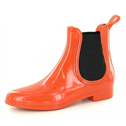 Spot on Damen Gummi Stiefeletten (Orange)