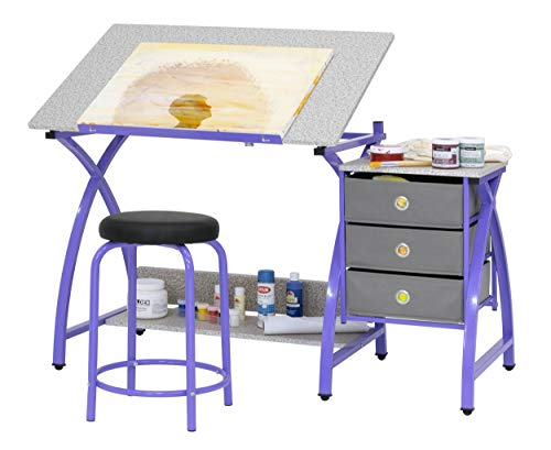 Comet Center with Stool in Purple / Spatter Gray