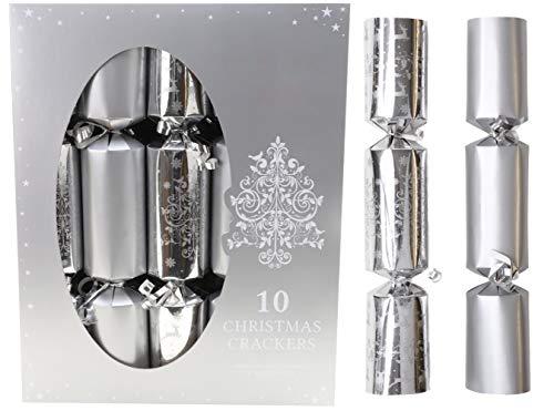 christmasshop 10 cestini d'Argento di Natale - 5 Pianura 5 Albero di Natale Design