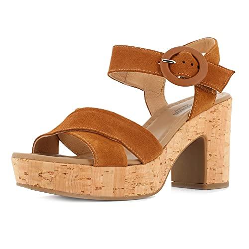 Sandalo da Donna NeroGiardini in Pelle Tabacco E012420D. Scarpa dal Design Raffinato. Collezione Primavera Estate 2020. EU 39