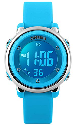 Kids Outdoor Sports Children's Waterproof Wrist Dress Watch with LED Digital Alarm Stopwatch Lightweight Silicone for Boy Girl