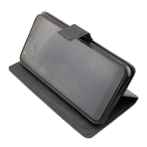 caseroxx custodia per Archos Core 60s, Bookstyle-Case Custodia protettiva book cover per smartphone in colore nero