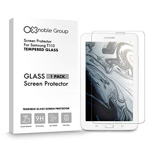 Oxnoble - Protector de pantalla de cristal para Samsung T110 Galaxy Tab 3 Lite 7'