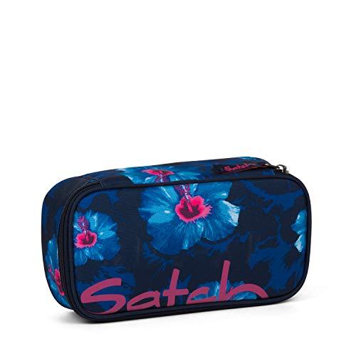 Satch Schlamperbox Waikiki Blue, Mäppchen mit extra viel Platz, Trennfach, Geodreieck, Blau