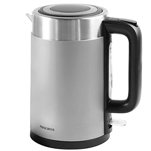 Progress®EK3214TITANIUMP-VDE Metallics Vega 1.7 L Jug kettle with European Plug |3000 W | Titanium | 360...