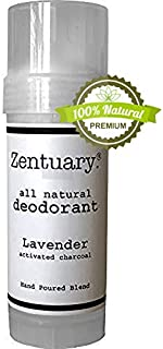 Zentuary Aluminum-Free Natural Deodorant (Lavender w/Activated Charcoal) Works All Day! | 100% Natural | Alcohol Free, Cruelty Free & Aluminum Free Deodorant | for Women, Men & Kids