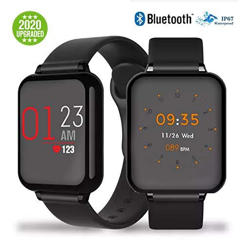 Reloj Deportivo, Sendowtek Reloj Deportivo Mujer Hombre para Android y iOS Móvil, con Monitor de Frecuencia Cardíaca y Presión Arterial, Monitor de Sueño, Recordatorio de Información y Contador de Pasos A Prueba de Agua
