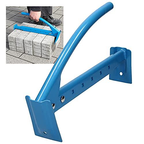 ECD Germany Ziegelzange 430-700 mm einstellbar, aus Stahl, robust und komfortable, Steinheber Klinkerträger Steinzange Steingreifer Ziegelträger Träger Greifzange