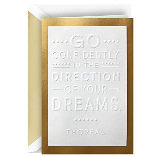 Hallmark Signature Congratulations Card or Graduation Card (Thoreau Quote)