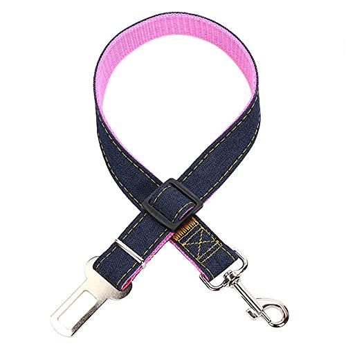 Cinturón De Seguridad De Coche para Perros Cinturón De Seguridad Rosa para Perros Correa Ajustable para Perros Y Gatos Cables De Seguridad Arnés para Cinturón De Seguridad para Vehículos Cinturón De