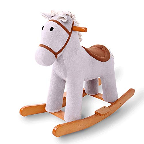SXNYLY Baby Rocking Horse, Riding Toys for Children Aged 1-3, Baby Stuffed Animal Rocking Chairs, Riding Toys for Toddlers (boys and Girls)