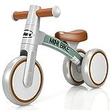 DREAMADE Balance Fahrrad für 1-3 Jahr, Lauflernrad ohne Pedal für Jungen & Mädchen, Fahrrad 3 Räder, Dreirad aus Aluminiumlegierung, Geschenk für Kinder (Grau)