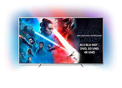 Philips Ambilight 70PUS7304/12 Fernseher 178 cm (70 Zoll) Smart TV (4K, LED TV, HDR 10+, Android TV, Google Assistant, Alexa kompatibel, Dolby Atmos) Hellsilber [Modelljahr 2019]