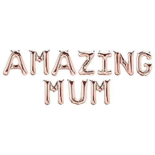 Globos de decoración para el día de la madre, decoración para fiestas de día de la madre, globos colgantes de oro rosa con letras autosellantes