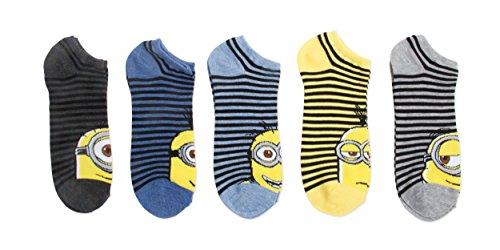 Despicable Me Minions 5 Pack No Show Socks (Big Boys/Men's)