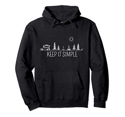 Dachzelt Camper | Keep it Simple | Autozelt Camping Urlaub Pullover Hoodie