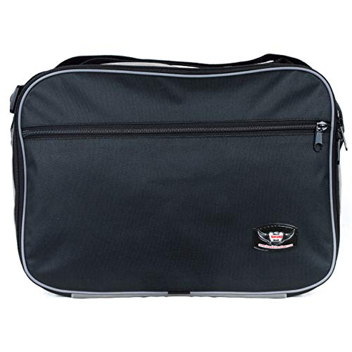 GREAT BIKERS GEAR - Top Box Bag to Fit Vario BMW R1200 GS Expandable Top Box Liner Luggage Bag (Black)