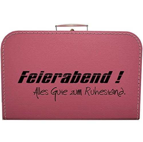 martoli Koffer zum Ruhestand, Rente, Pension - Größe und Farbe wählbar (pink, 35 cm)