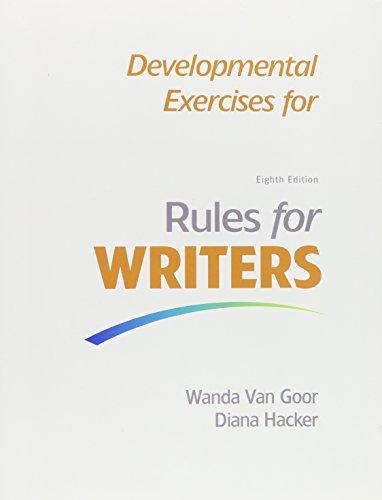 Developmental Exercises for Rules for Writers