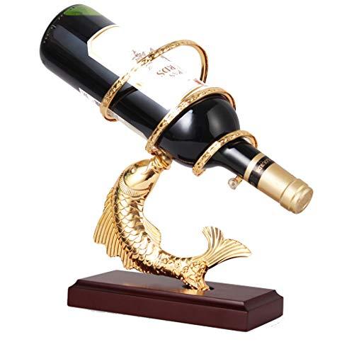 Botelleros Estantes De Vino Estante De Vino Independiente Estante De Exhibición De Bebidas De Sala (Color : Gold, Size : 29 * 9 * 29cm)