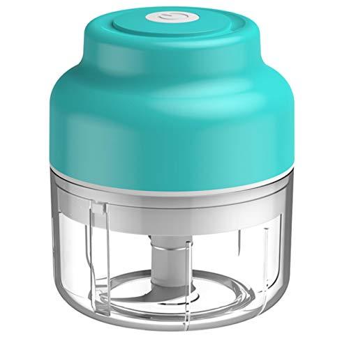 Liuying Picadora de ajo eléctrica, Mini picadora de Carga USB, procesador de Alimentos pequeño portátil inalámbrico, para ajo, Pimiento, Fabricante de Alimentos/Molinillo