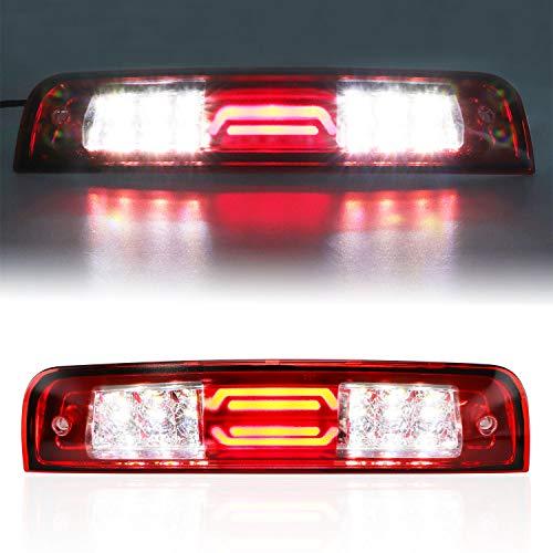 Youxmoto LED 3rd Brake Light Third Brake Light High Mount Brake Light Cargo Lamp Waterproof Fit 2009-2017 Dodge Ram 1500 2010-2017 2500 3500 55372082AD 55372082AC Chrome Housing Red Lens