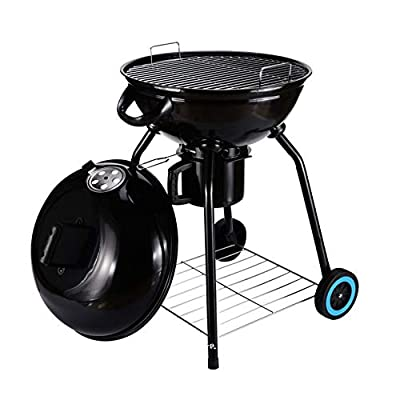 """Original BBQ 24"""" Charcoal Kettle Grill Outdoor Portable BBQ Grill Backyard Cooking Stainless Steel for Standing & Grilling Steaks, Burgers, Backyard Pitmaster & Tailgating"""