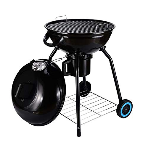 "Original BBQ 24"" Charcoal Kettle Grill Outdoor Portable BBQ Grill Backyard Cooking Stainless Steel for Standing & Grilling Steaks, Burgers, Backyard Pitmaster & Tailgating"