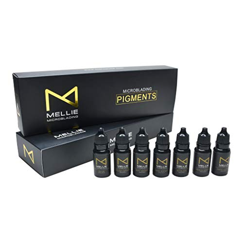 M | Microblading Medical Grade Pigment Ink Set – Set of 7 Colors | Professional Use Best Microblading Pigment Set For Eyebrows Microblading FOR PROFESSIONALS ONLY