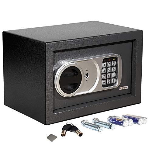 Tresor Safemaxx mit elektronischem Zahlenschloss • Möbelsafe Dokumentensafe Geldsafe • Mit Notfall-Schlüsseln • Wandsafe Einbausafe inkl. Montagematerial • 6 Größen (8 Liter, 20 x 31 x 20 cm)