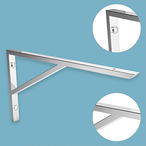 Wandkonsole EWH021-450 edel verchromt | Maße: 450x250 mm | Unterbau für Waschtischplatte | Liefermenge: 1 Stück