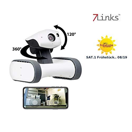 7 links camera robot: Home-Security-Rover met HD-video, IR-nachtzicht, wereldwijd op afstand bestuurbaar (bewakingsrobot)