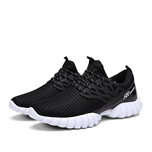ALEADER 4562320454605 Socone New Spring and Summer Lightweight Breathable Elasticity Flexibility Excellent Men's Running Shoes Sneaker Black 250, one
