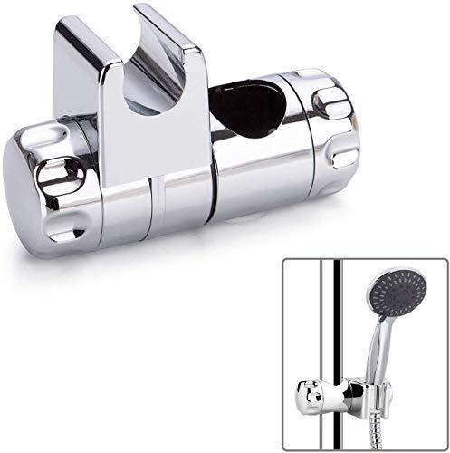 Brausehalter, RIXOW Universal Handbrause Halterung, Verstellbar Duschhalterung für Handbrause oder Duschkopf ABS Grade Kunststoff, Verchromt brausenhalterung für Badezimmer Duschstange 25 mm