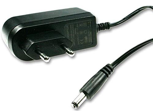 KesCom 9V Fuente/cargador hasta 500mA con clavija de 5,5mm x 2.5mm, apto para diversos dispositivos electrónicos puntos, reproductor, grabador...
