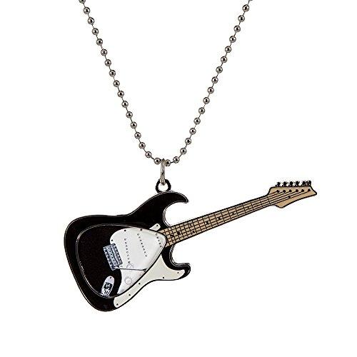 PickWorld Pick-Lace PLC-KSTR Guitar Pick Holder Necklace/Key Ring, Black Electric