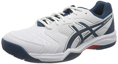 ASICS Gel-Dedicate 6 Clay, Scarpe da Tennis Uomo, White/MAKO Blue, 43.5 EU