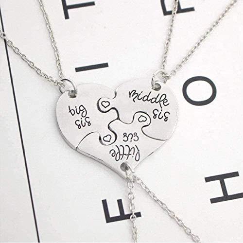 ZHIFUBA Co.,Ltd Necklace Woman Necklace Exquisite Necklace Alloy Heart Necklace Pendants Suitable for Men and Women Parties Love Sewing Pendants Necklace