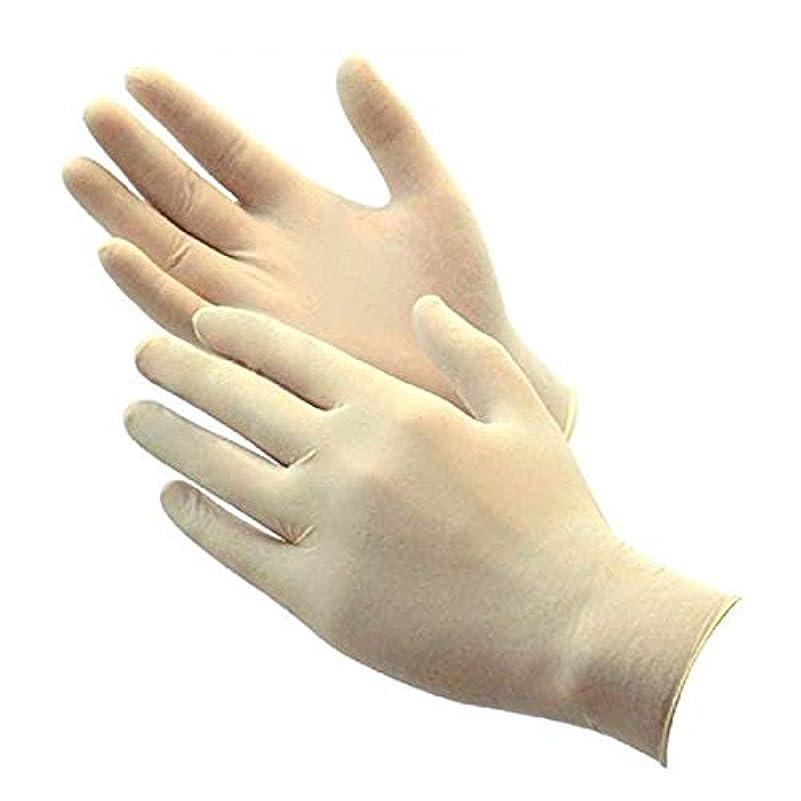 発信肌宣言する高品質ラテックス手袋(クリーンパック)100枚入り (L)