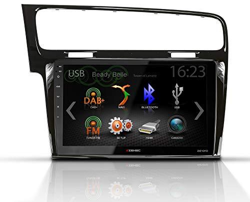 "ZENEC E>GO Core Set passend für VW Golf VII (MkI), AU, Bj. 2012-2017 │Rahmenfarbe: Piano Black │10.1""/25,7 cm 16:9 LCD-TFT Bildschirm │ DAB+ Tuner │SmartLink (Set bestehend aus Z-F2021 + Z-E1010)"
